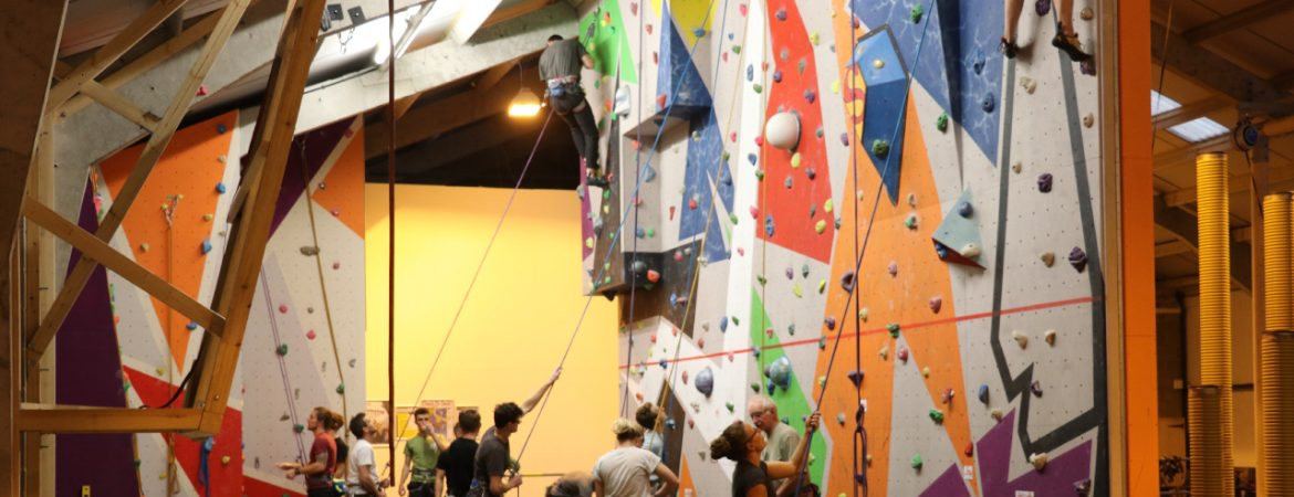 ready2climb: climbers using the top rope climbing facilities at ready2climb