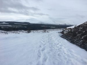 ready2climb: a snowy view of the mountains of Glen Spean in the Scottish Highlands