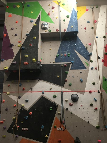 ready2climb: a section of top rope climbing wall