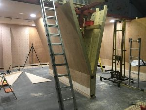 ready2climb: bare climbing panels prior to surface treatment and painting
